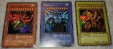 Complete GBI-001-002-003 God Card Set Ultra Rare Obelisk Ra Slifer Sky Dragon!
