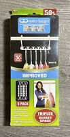 New Sealed Wonder Hanger Max, Improved, Pack of 6. Triples The Closet Space