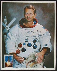 s1406) Raumfahrt Astronaut Owen K. Garriott - NASA Photo Autograph Signature OU