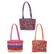 e54961527a Piccola borsa borsetta in tessuto lucido colorato ricamata indiana con p  0IP8