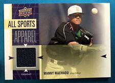 2011 UD World of Sports All-Sports Apparel Memorabilia #AS-MM MANNY MACHADO MT