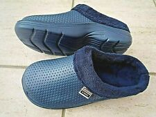 NEW Town & Country blue fleece - lined CLOGS--Size 4 UK  .