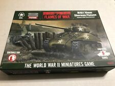 FLAMES OF WAR M4A1 76mm SHERMAN PLATOON UBX05