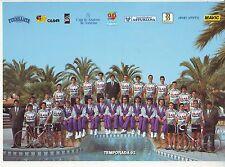 CYCLISME carte EQUIPE CYCLISTE CLAS CAJASTUR 1992   format 23 x 16,5 cm
