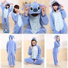 Kigurumi Anime Cosplay Pyjamas Costume Adult/Kid Stitch Onesie Sleepwear Slipper