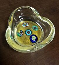 posacenere in vetro di Murano con murrine firmato ALT