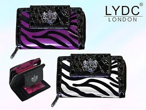 LYDC London Animal Print Purse Womens Zipped Coin Notes ID Card Holder Wallet