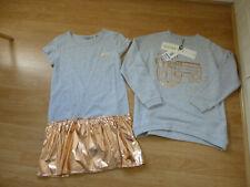 BNWT Girls Designer KENZO KIDS Grey Jersey 2 In 1 Outfit Dress & Sweater 14 Yrs