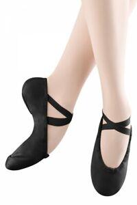 Bloch SO277 Canvas Pump split sole ballet shoes in Black