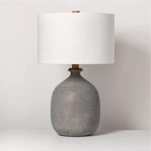 Resin Table Lamp Gray - Hearth & Hand with Magnolia - Ships Same Day As Ordered