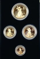 1996-W American Eagle 5,10, 25 and $50 Dollar 4 Coin Gold Proof Set as Issued