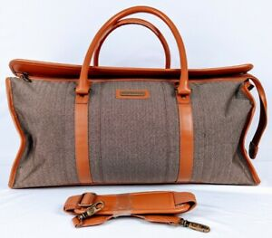 21 inch Hartmann Carry On Bag Belting Leather /W Straps Duffle Weekender Tote