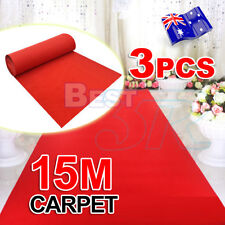 3x Red Carpet Runner Hollywood Awards Night Casino Decoration Party Wedding 5*1m