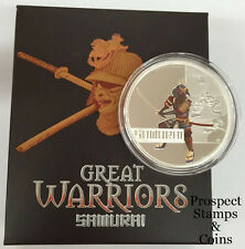 2010 Great Warriors Samurai 1oz Silver Proof Coin