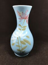 Beautiful Blue Flower Vase With Leaves And Flowers