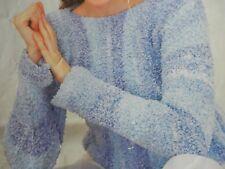 "Knitting Pattern Womens Ladies Jumper 32-42"" Chunky Vintage"