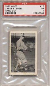 1922 W503 Casey Stengel #15 New York Giants PSA Graded Tough Type!