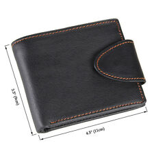 Mens wallet. Button wallet.black leather wallet.perth leather shop.