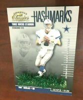 Troy Aikman 2001 Classics Hashmarks Stadium Turf Relic #HM-6 Dallas Cowboys RARE