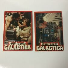 Battlestar Galactica 1978 Wonder Bread Card Set of 2 (of 36) Different Cards
