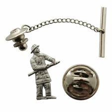 Fireman Tie Tack ~ Antiqued Pewter ~ Tie Tack or Pin