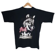 The Pack Wolfpack Graphic Mens Black T-Shirt Size Large