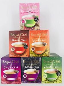 Royal Chai 6 Variety Chai Gift Box Set - FREE DELIVERY