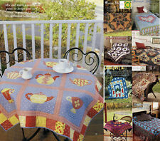 Afternoon Tea & A Large Group Total Of 9  Quilt   Pattern Only