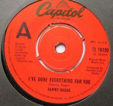 """SAMMY HAGAR - I've Done Everything For You - Ex Con 7"""" Single Capitol CL 16120"""