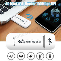Unlocked 4G LTE WIFI Wireless USB Dongle Stick Mobile Broadband Modem SIM