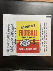 1970 Scanlen's Football VFL Cards Gum Wax Wrapper Print