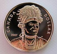 2007 CANADA THAYENDANEGEA (JOSEPH BRANT) BRILLIANT UNCIRCULATED SILVER DOLLAR