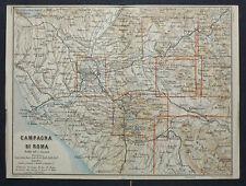 1899 Antica Topografica = CAMPAGNA DI ROMA = ITALIA.SCALA 1:400000