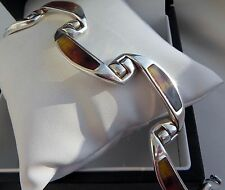 Exquisite vintage 50g sterling silver 925 bracelet Italy designer stamped 66 AR