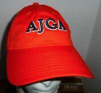 AJGA Orange Golf Hat New Era 9Twenty Buckle Strapback One Size Baseball Cap OSFA
