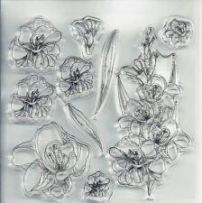 Sello De Silicona Transparente Transparente Flores para Decoración hágalo usted mismo Scrapbooking/álbum de fotos
