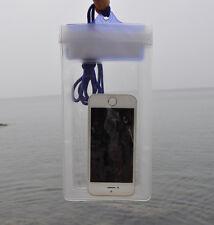 7''x4'' Mobile Phone Waterproof Dry Bag Kayak Canoe Camping Floating Clear 50g