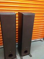 LOT of 2 Yamaha NS-A200XT Black Floor Standing Tower Speakers - Pair