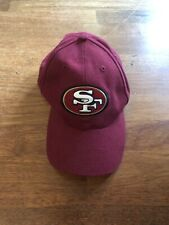 VINTAGE 90's SAN FRANCISCO 49ers NFL TRAINING CAMP RED BASEBALL HAT EUC