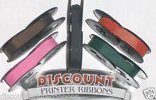 Olivetti Lettera 31 Typewriter Ribbons - Pink Purple Red Green Black Ink (5 pk)