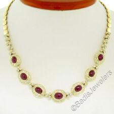 Collar de joyería naturales de rubí