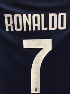 Adidas Juventus Ronaldo 7 Away 20-21 Navy White Jersey Size S Men's Only