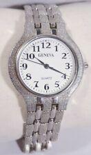 Women Geneva Watch Bracelet Band Silver Case White Band Easy to Read New