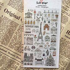 Paris France holiday PVC Sticker Travel Scrapbooking Card Diary Art Craft DIY