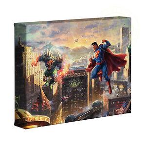 Thomas Kinkade Studios Superman Man of Steel 8 x 10 Gallery Wrapped Canvas