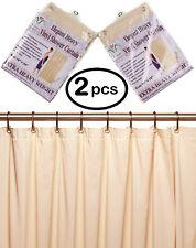 """2/pk 10 Mil Heavy Duty Vinyl Shower Curtain Liner w Metal Grommets size 70 x 72"""""""