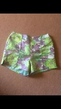 MOSSMAN Womens Shorts 12 Bright Green Purple Cute Party Dressy Summer Floral