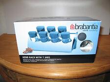 BRABANTIA *NEW* INOX MAT Etagère 7 pots à épices L.23 H.14cm Spices