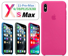 Funda de SILICONA LIQUIDA ORIGINAL para iPhone 12 11 PRO MAX XS XR X 8 7 6 Plus