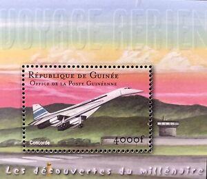 GUINEA CONCORDE STAMPS SOUVENIR SHEET 2002 MNH MILLENNIUM AIRCRAFT AIRPLANE